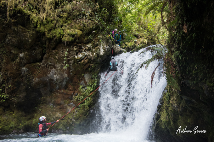 lower chandler stream abseilling canyoning nouvelle zélande